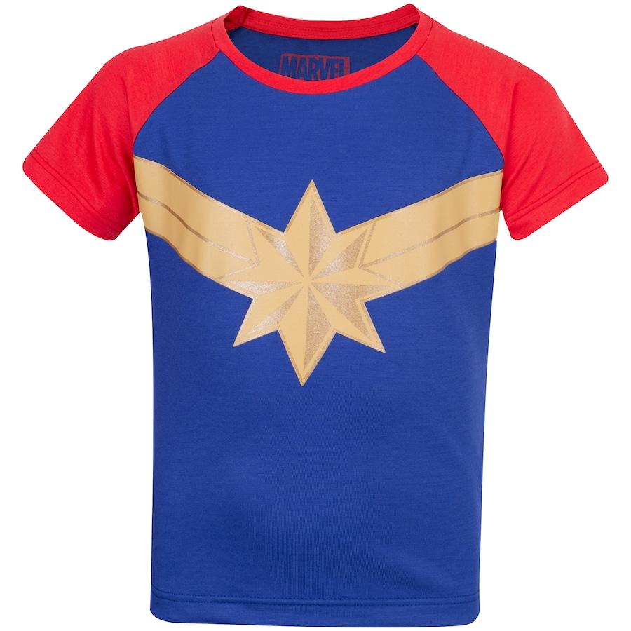 Camiseta Disney Capitã Marvel - Infantil