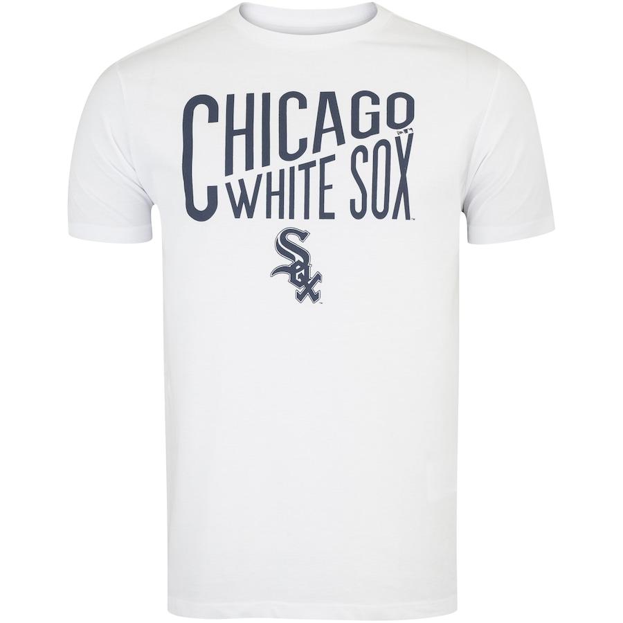 Camiseta Chicago White Sox Major League Baseball Letters - Masculina