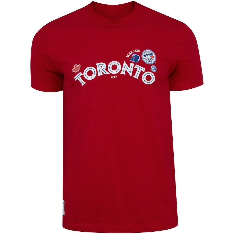 Camiseta Toronto Blue Jays Major League Baseball Logomania Logos - Masculina