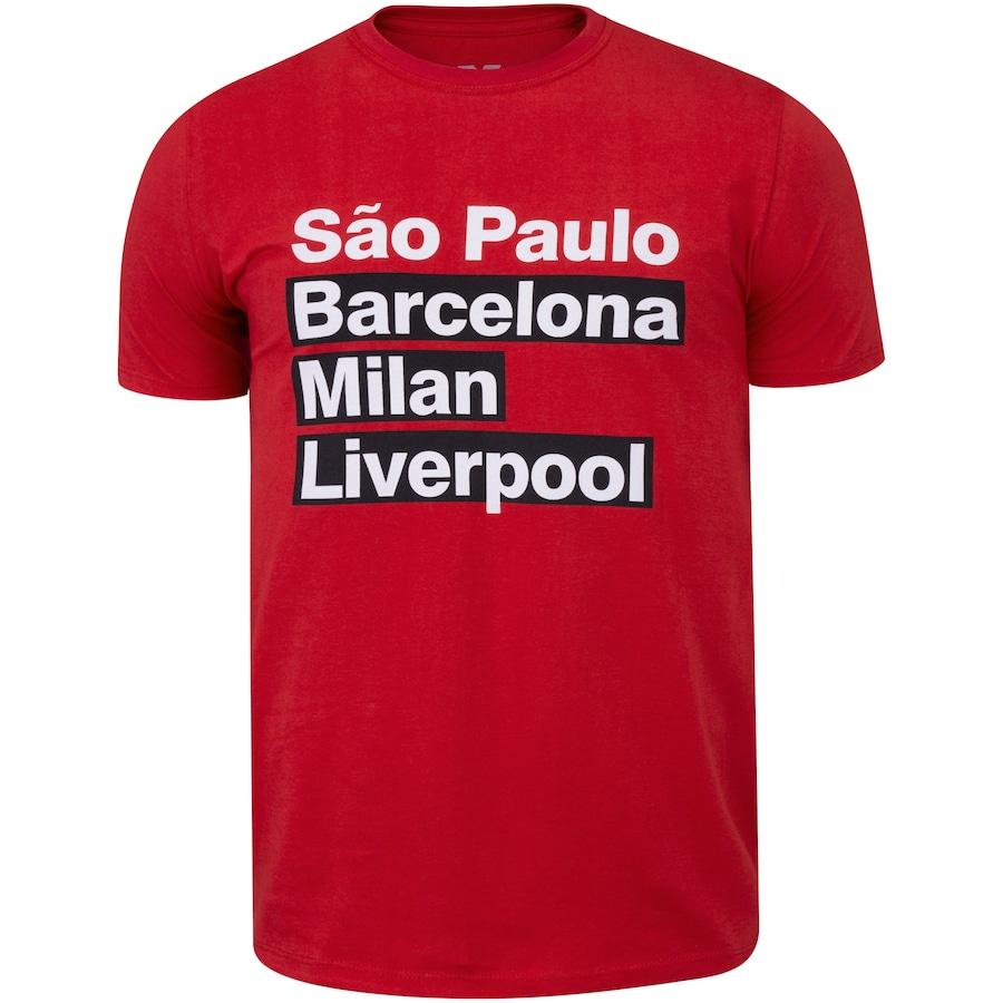 Camiseta do São Paulo Tri Mundial Manto Fc - Masculina