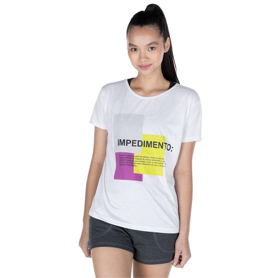 Camiseta Oxer Manga Curta Lettering - Feminina
