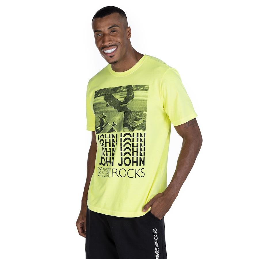 Camiseta John John Manga Curta Gym Rocks Neon Skate - Masculina