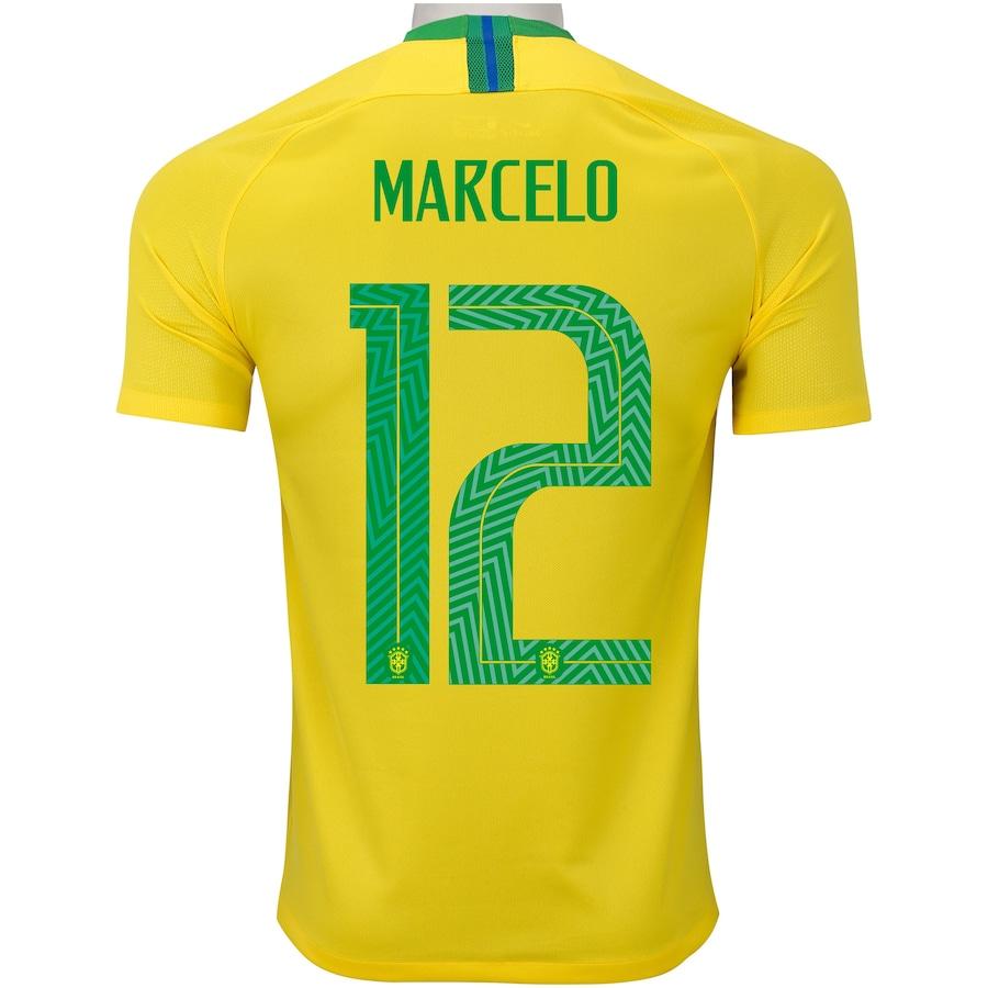 adec3334cb Camisa da Seleção Brasileira I 2018 Nike nº 12 Marcelo - Masculina