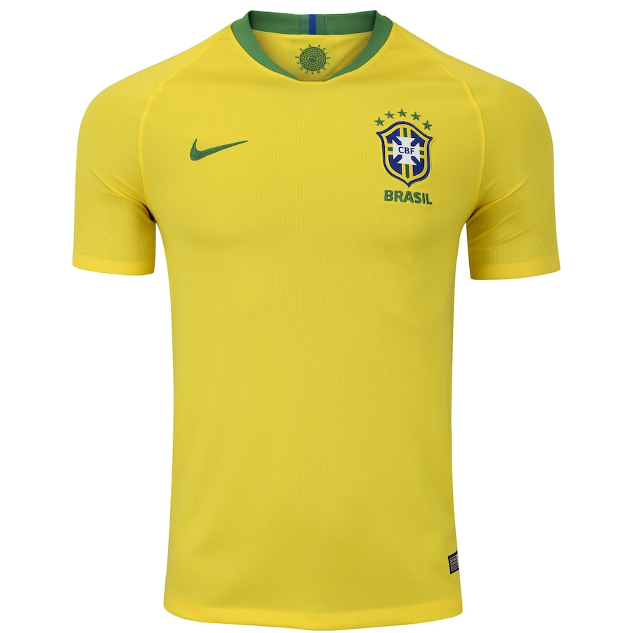 35e51d9ed2 Camisa da Seleção Brasileira I 2018 Nike nº 12 Marcelo - Masculina
