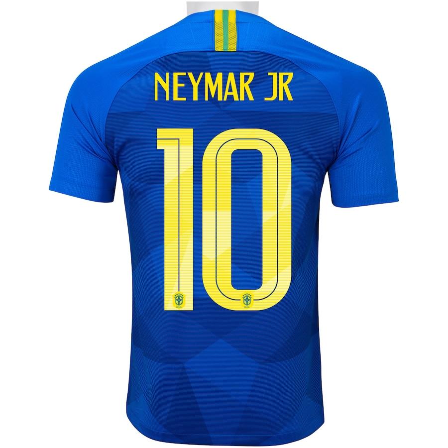 Camisa da Seleção Brasileira II 2018 Nike nº 10 Neymar Jr. - Masculina 9ce8173e28931