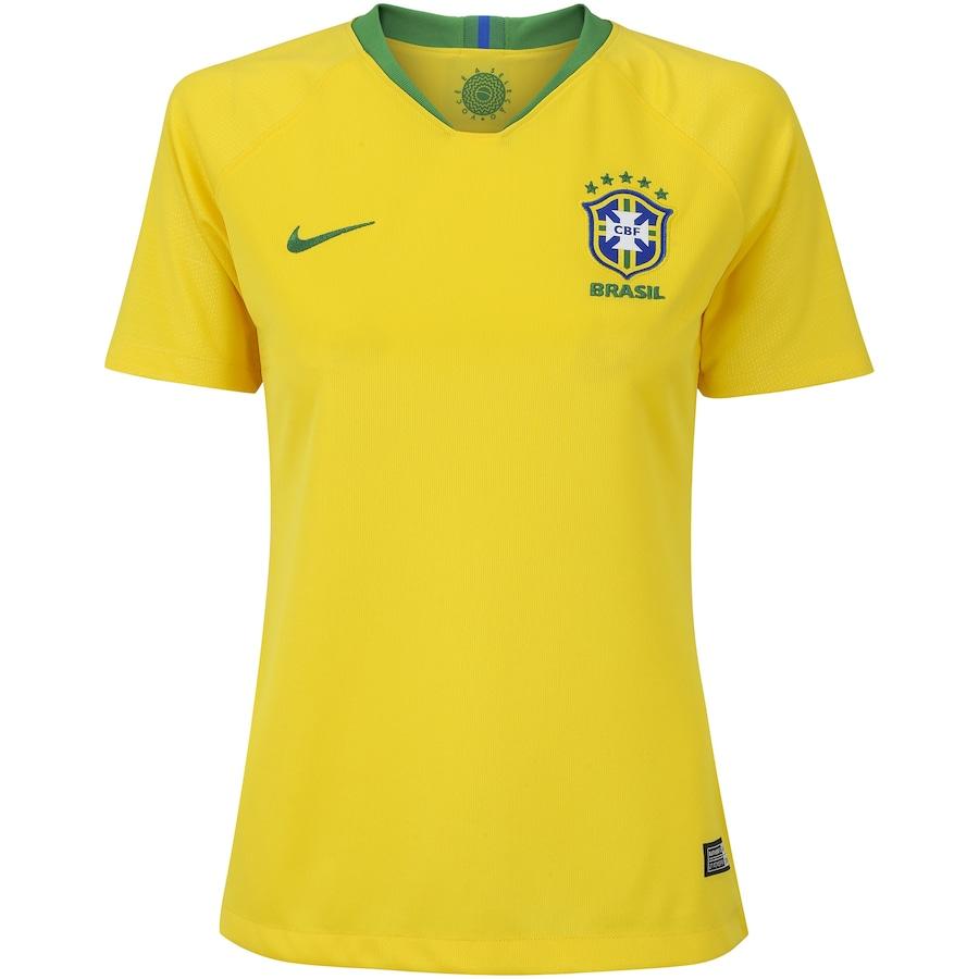Camisa da Seleção Brasileira I 2018 Nike nº 11 Philippe Coutinho - Feminina ec8f2f7620811