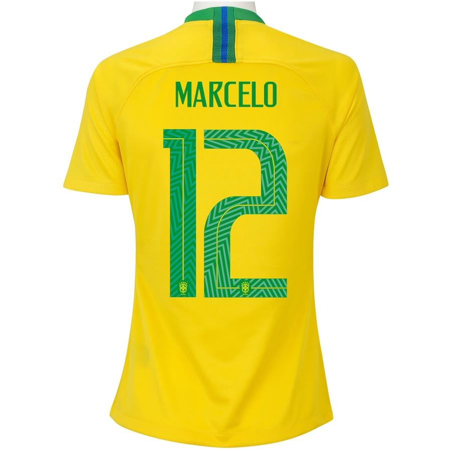 595a078b64 Camisa da Seleção Brasileira I 2018 Nike nº 12 Marcelo - Feminina