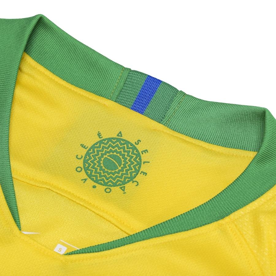 cd26ac6d3b Camisa da Seleção Brasileira I 2018 Nike nº 17 Fernandinho - Feminina