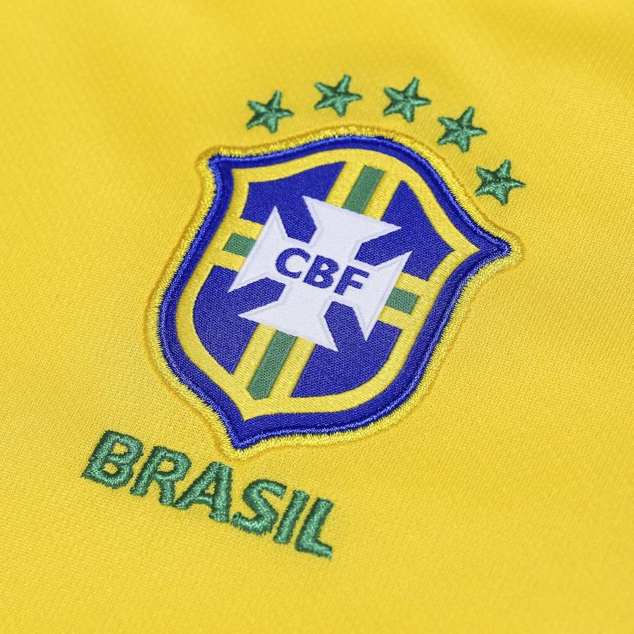 8ac60298c3 Camisa da Seleção Brasileira I 2018 Nike nº 17 Fernandinho - Juvenil