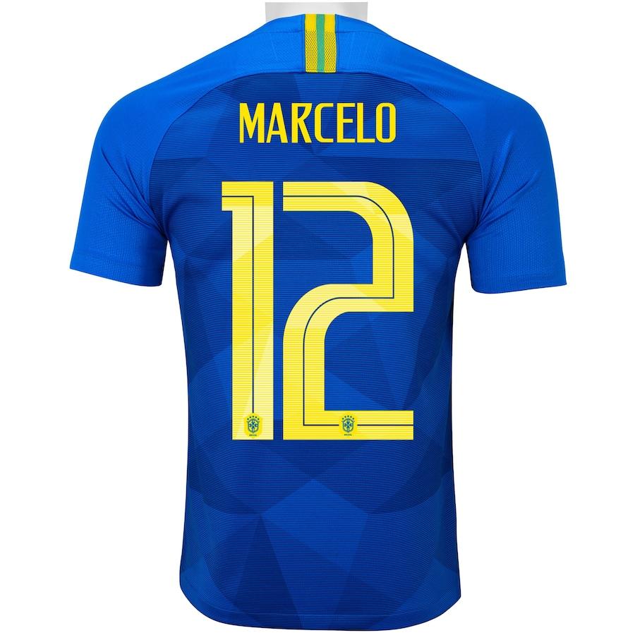 ac9e1ecd31 Camisa da Seleção Brasileira II 2018 Nike nº 12 Marcelo - Juvenil