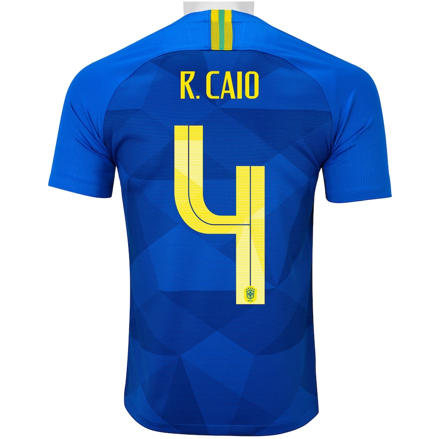 af55db1e18 Camisa da Seleção Brasileira II 2018 Nike nº 4 Rodrigo Caio - Juvenil