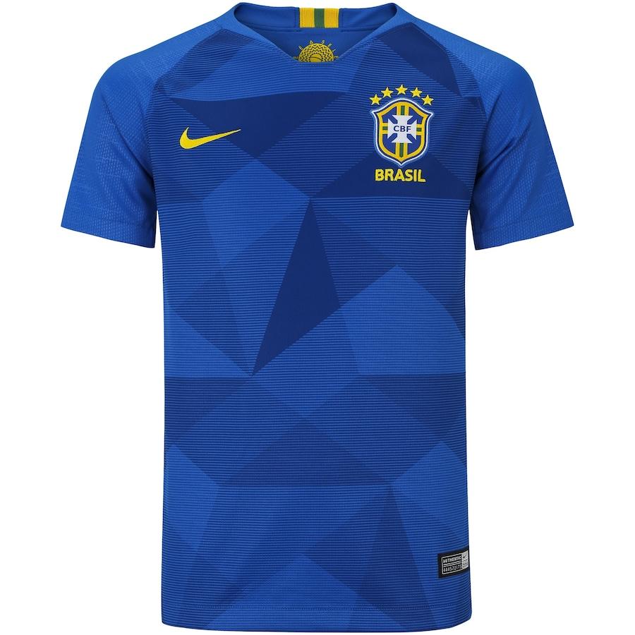 46d639d816 Camisa da Seleção Brasileira II 2018 Nike nº 4 Rodrigo Caio - Juvenil