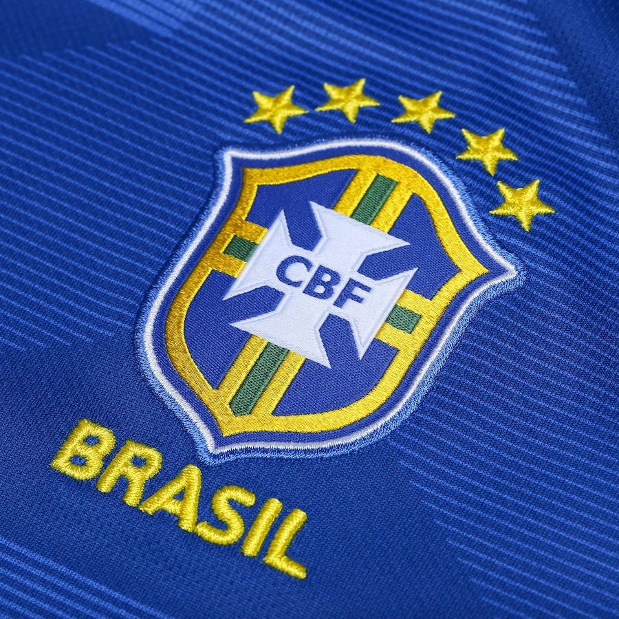 b3f0f8b447 Camisa da Seleção Brasileira II 2018 Nike nº 17 Fernandinho - Juvenil