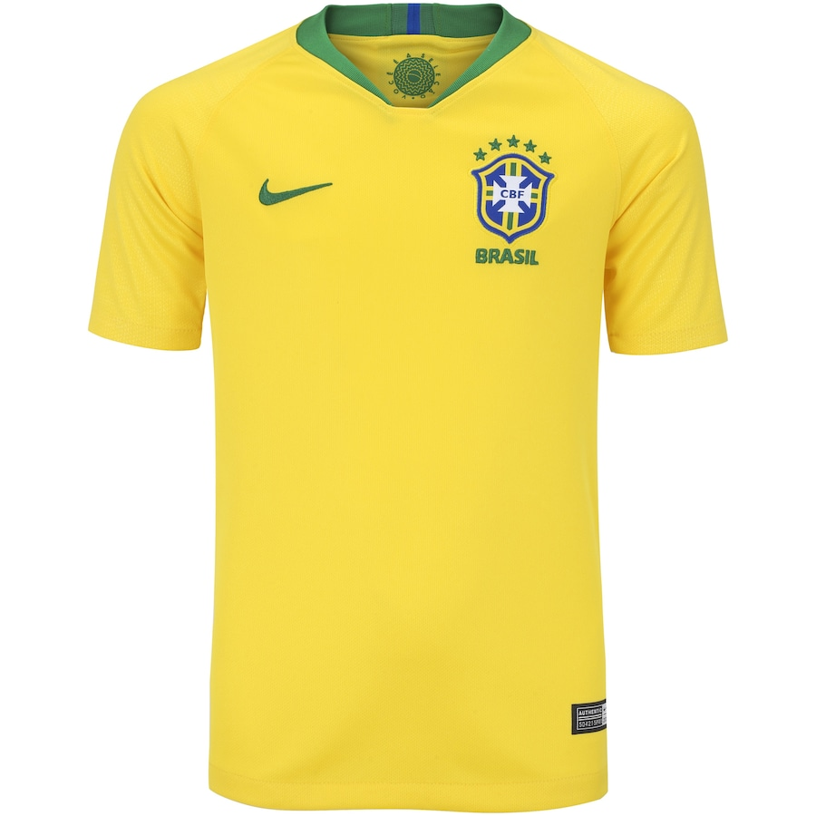 26369e050a Camisa da Seleção Brasileira I 2018 Nike nº 12 Marcelo - Juvenil