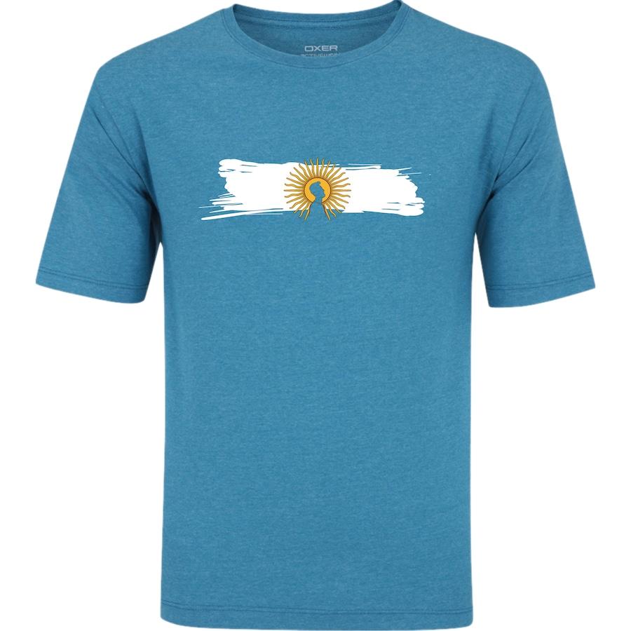 Camiseta Oxer Básica - Masculina - AZUL CINZA ESC - ARGENTINA 10857780a3de4
