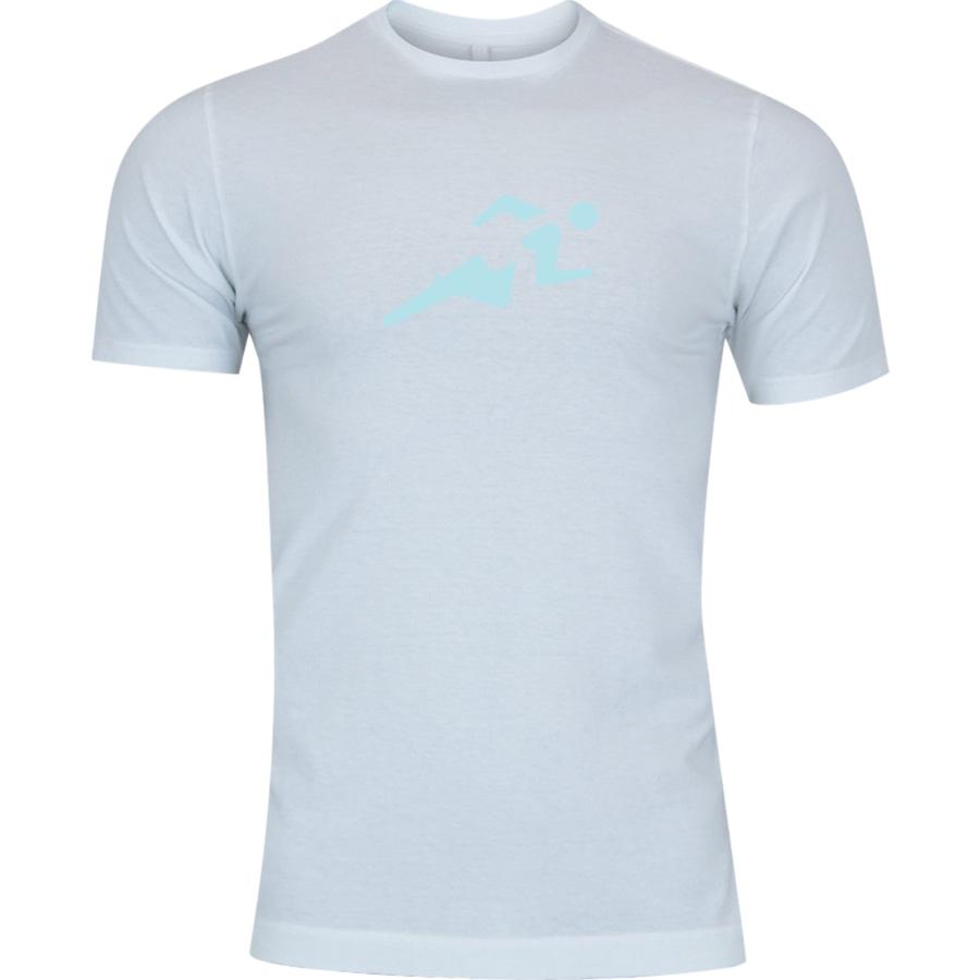 9df8292367 Camiseta Adams Básica Futebol - Masculina - Branco - Corrida Azul Claro