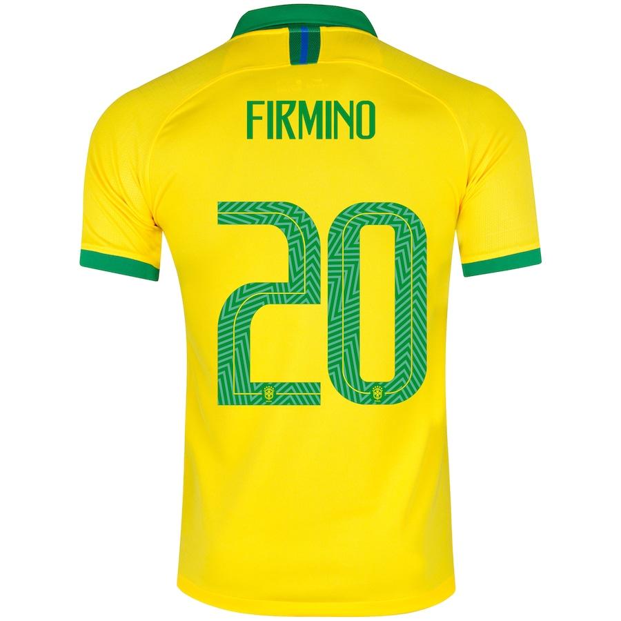 e247c28d1a Camisa da Seleção Brasileira I 2019 Nike nº 20 R. Firmino - Masculina