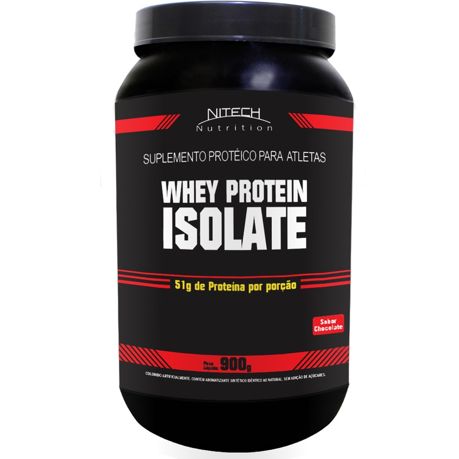 4451108c5 Whey Protein Isolate Sabor Chocolate - 900G - Nitech Nutrition