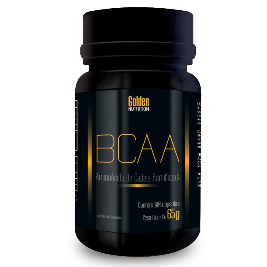 c63e19e58 Bcaa - Aminoácido De Cadeia Ramificada - 100 Cápsulas - Golden Nutrition