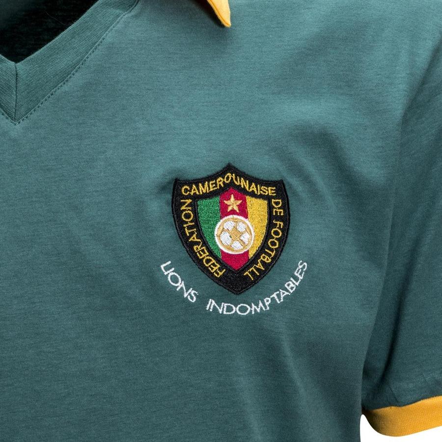 367f55bf16 Camiseta Retrô Camarões 1982 - Masculina