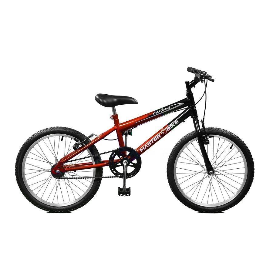 f41930840 Bicicleta Master Bike Ciclone - Aro 20 - Freio V-Brake - Marcha Única -  Masculina