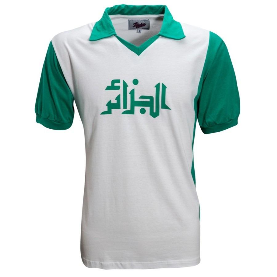 3871141974 Camisa Retrô Algéria 1982