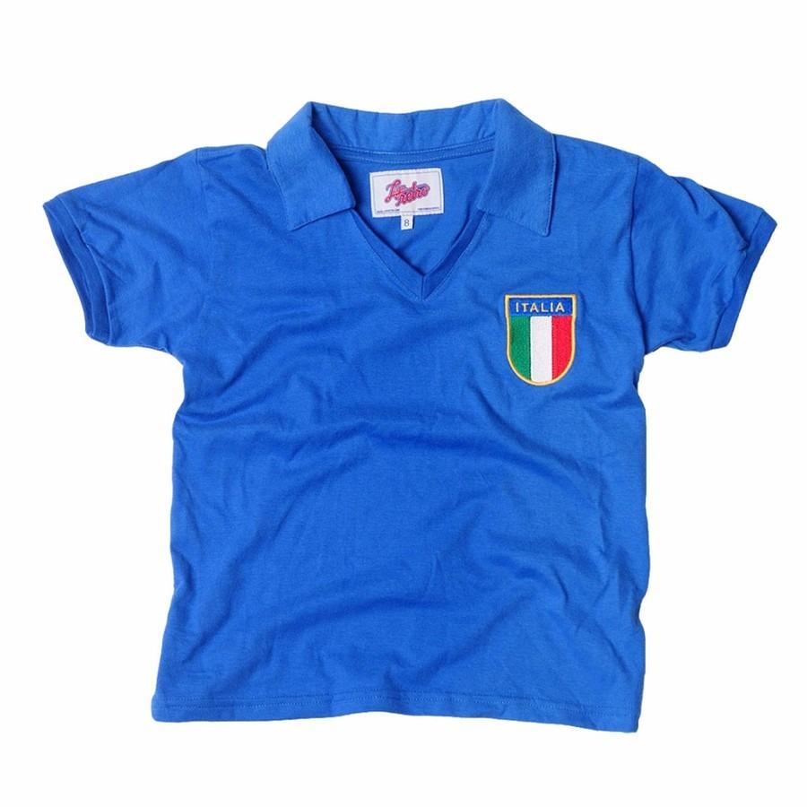 9983fd40d8 Camiseta Liga Retrô Itália 1982 - Infantil