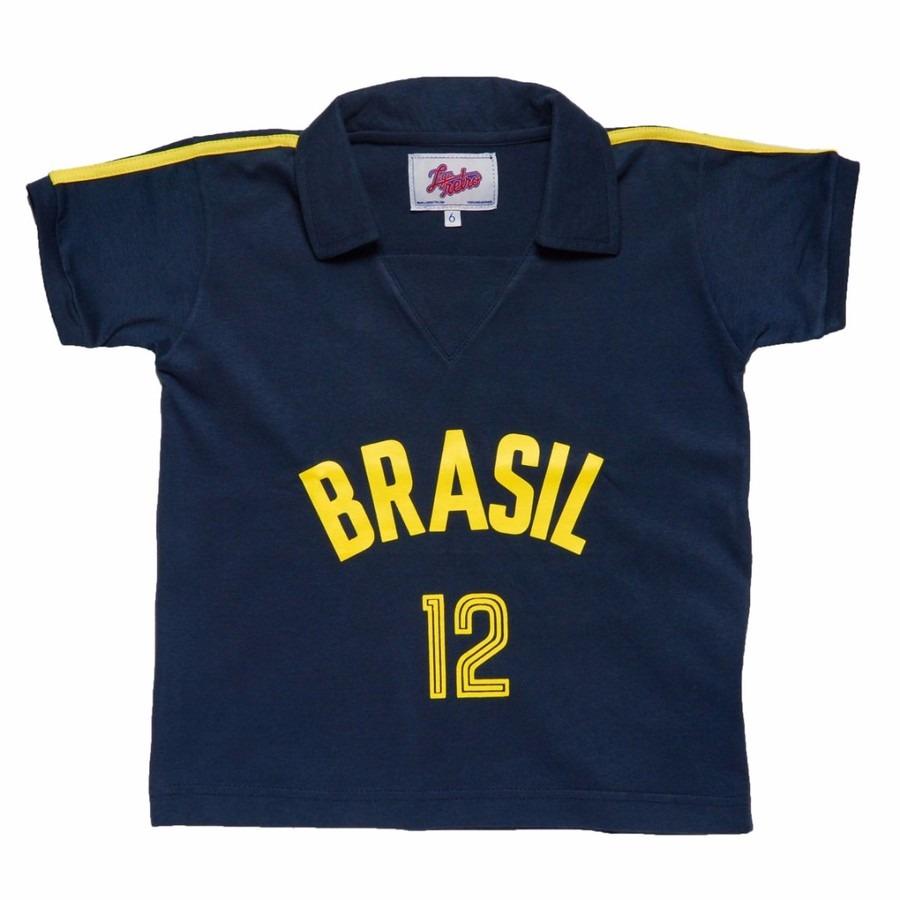 Camisa Liga Retrô Brasil Vôlei 1984 - Infantil 47f9acfa55506