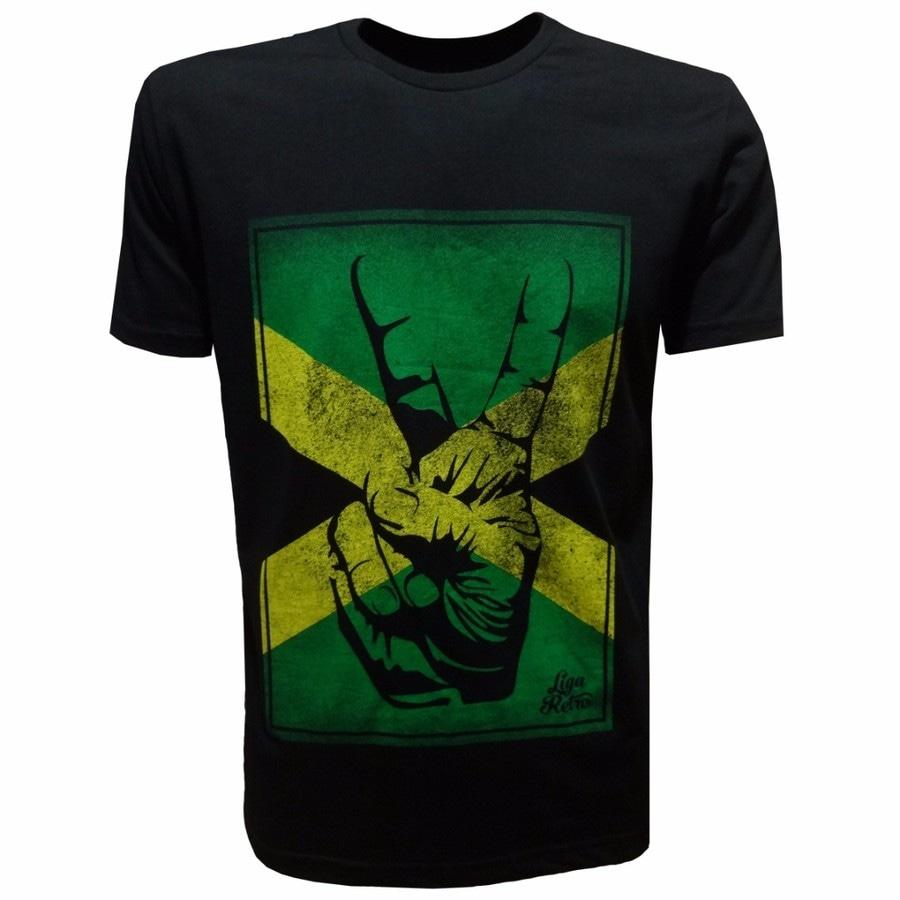 Camiseta Liga Retrô Vintage Jamaica Atletismo - Masculina 53c2f69675a89
