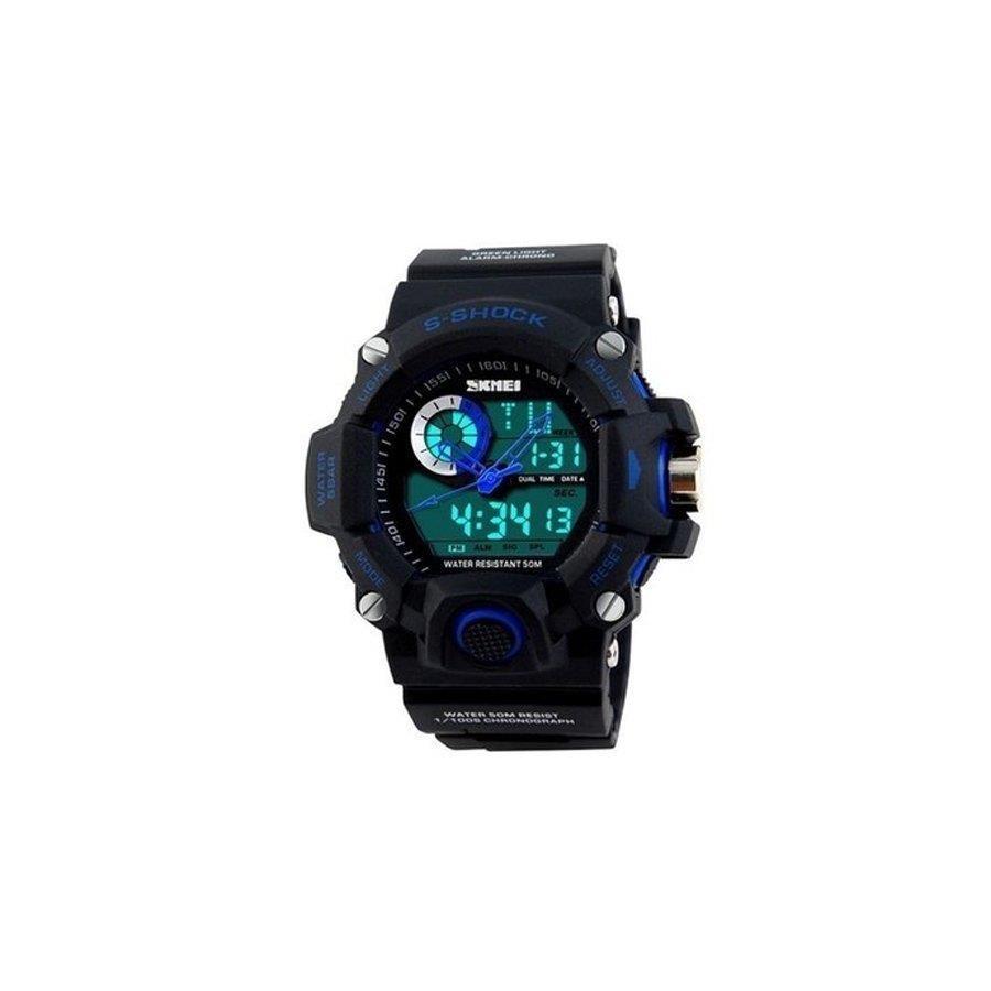 3773b861103 Relógio Skmei Anadigi 1053 Preto e Azul