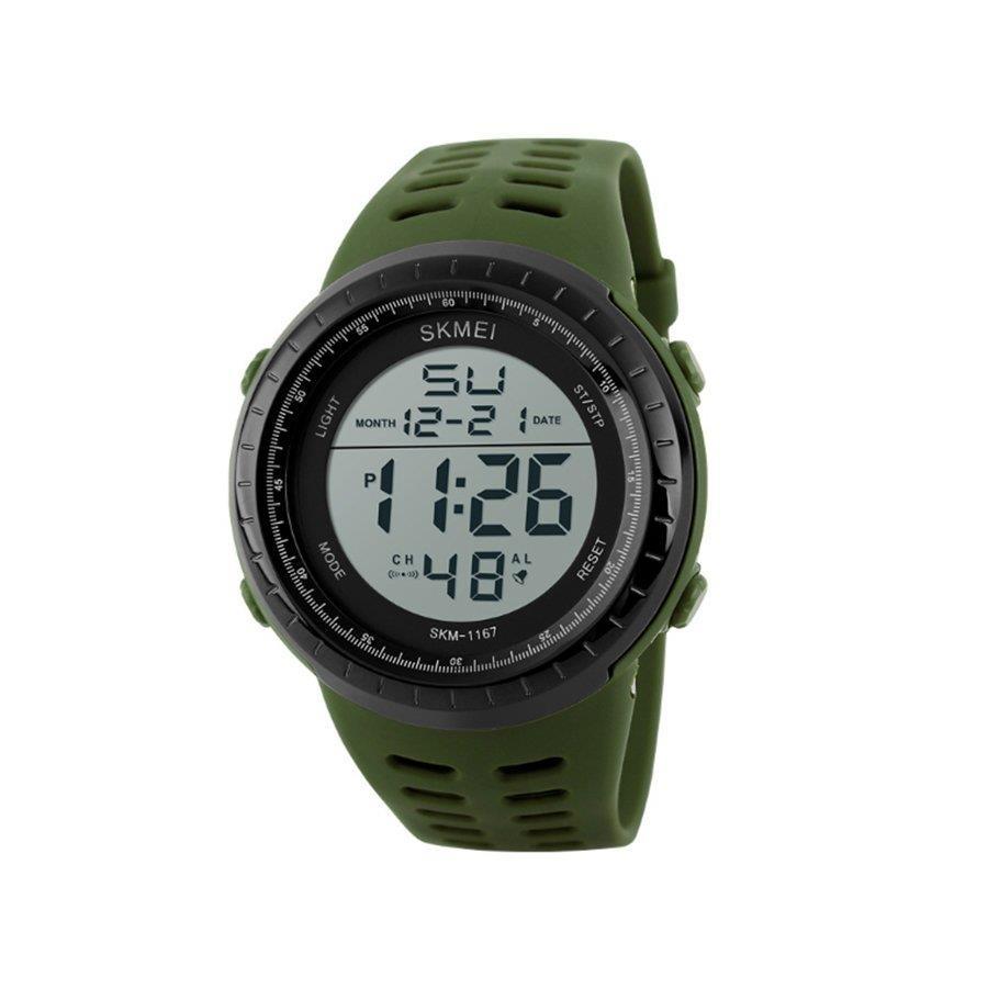 7e81122d8 Relógio Digital Skmei 1167 VD-PT - Masculino