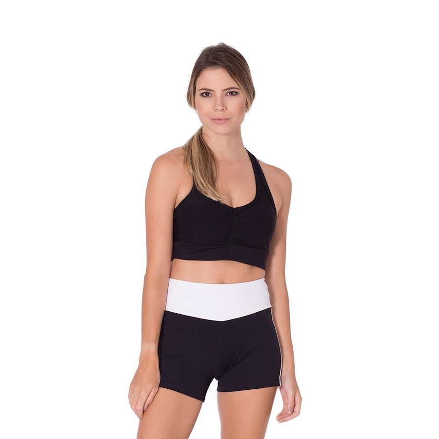 39387332cc Short Fitness Go Fit Rio Recorte - Feminino
