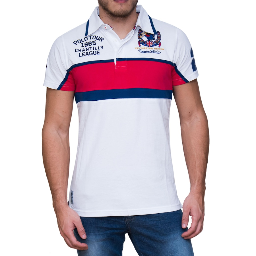 81d7f25e4f Camisa Polo Kevingston Taylor Rugby M C England - Masculina