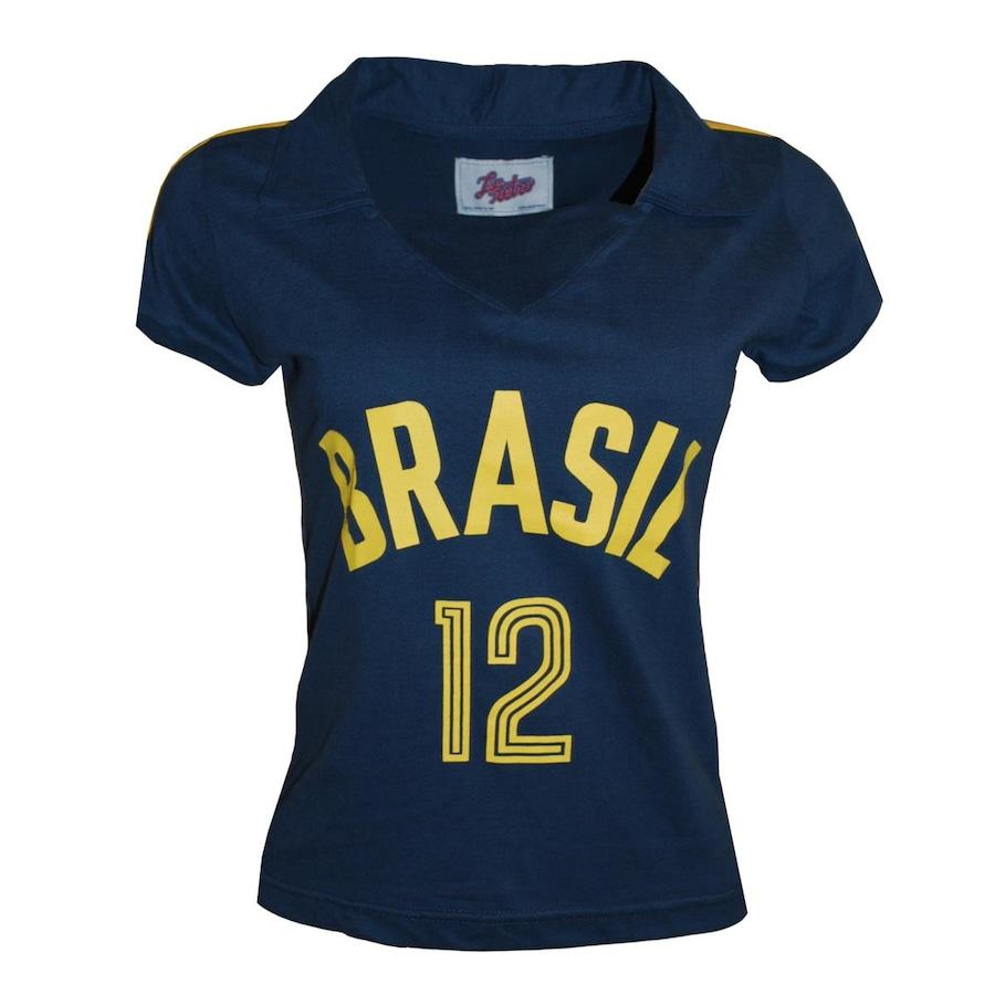 Camiseta Liga Retrô Brasil Vôlei 1984 - Feminina a46896a2e9874