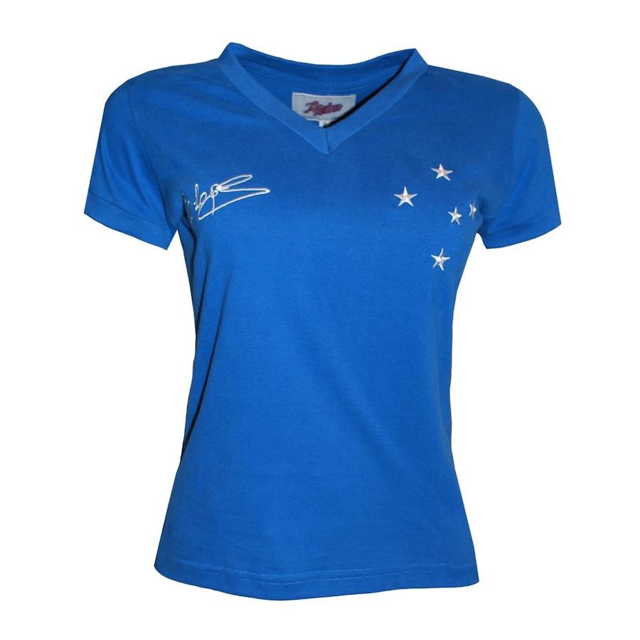 Camiseta Liga Retrô Cruzeiro 1966 - Dirceu Lopes - Feminina 6dd890b9e1a6c