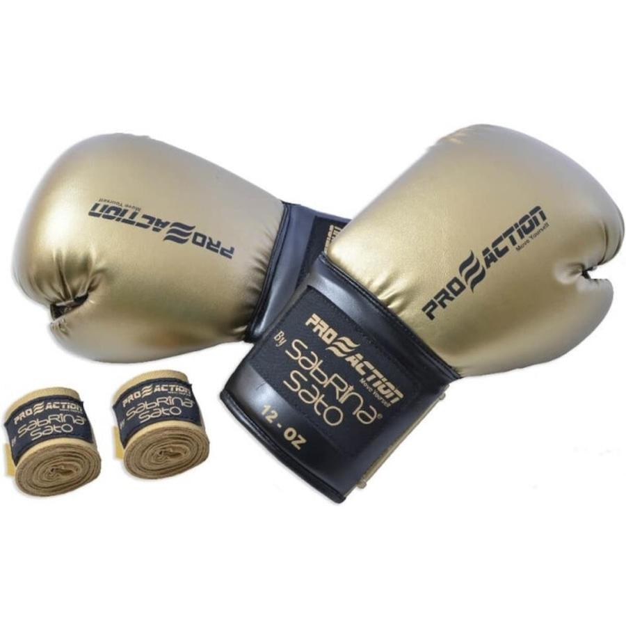 Luva de Boxe e Muay Thai 12 OZ Proaction G292 e Bandagem Elástica 3m by  Sabrina Sato 6322e847d045f