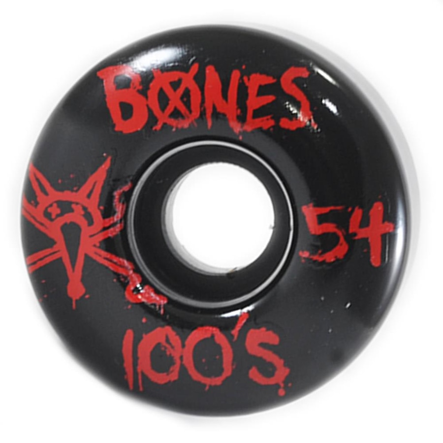 85e9c7c0c39 Roda de Skate Bones Wheels 100 S Black Red - 54mm