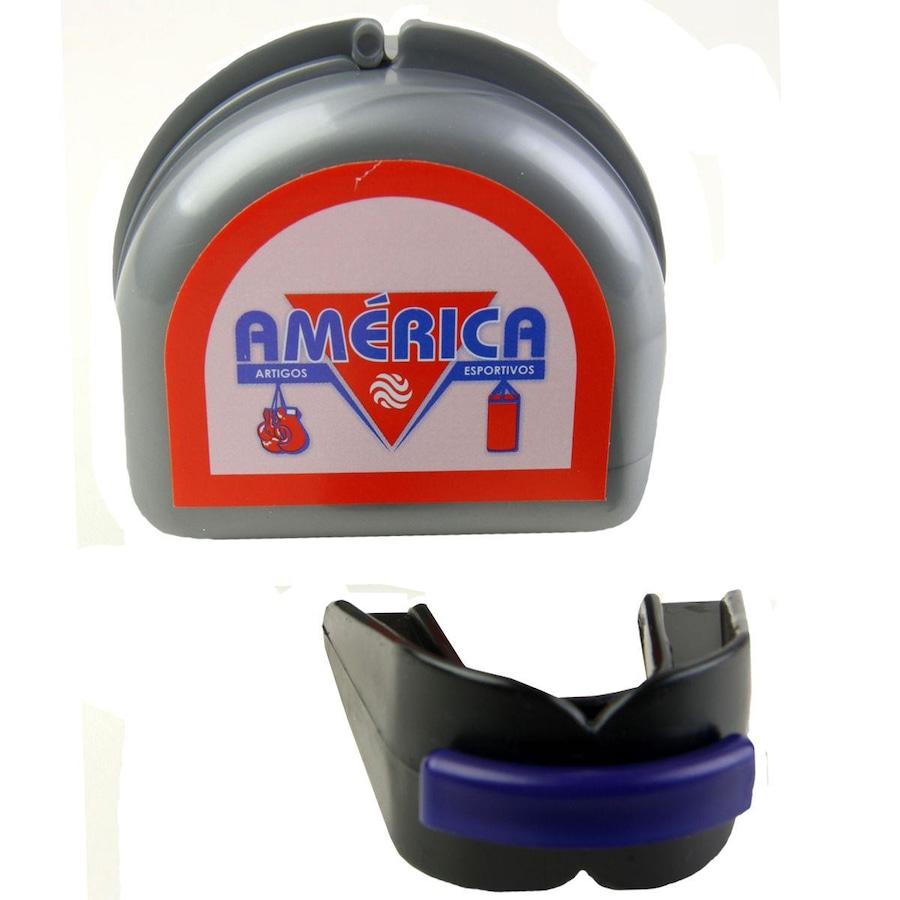ed10406eed Protetor Bucal América Duplo com Estojo