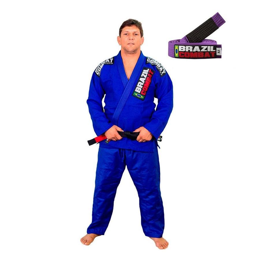 86caa6c50 Kit Brazil Combat com Kimono Jiu Jitsu Xtra Lite + Faixa Jiu Jitsu -  Masculino