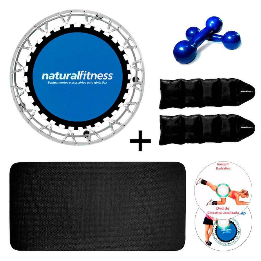 6ceee97e3 Kit Treino Funcional Natural Fitness com Mini Jump + Colchonete + Halter +  Caneleira de Peso ...