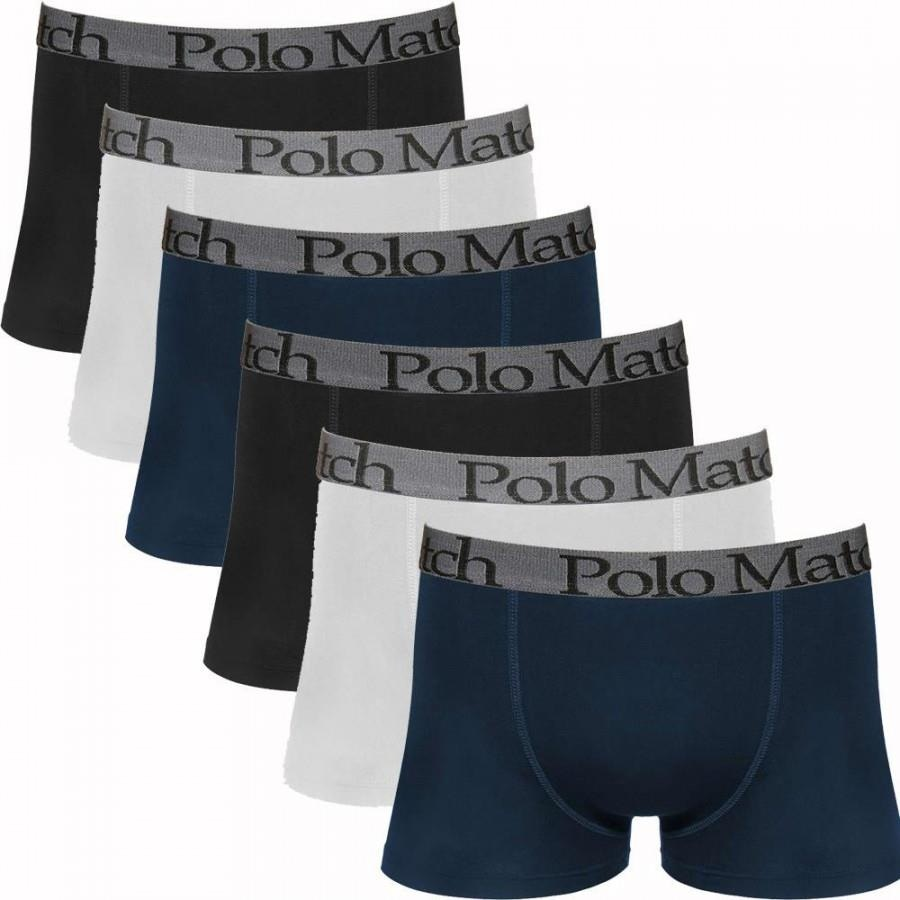 1c9c30707 Kit com 6 Cuecas Polo Match Boxer de Cotton