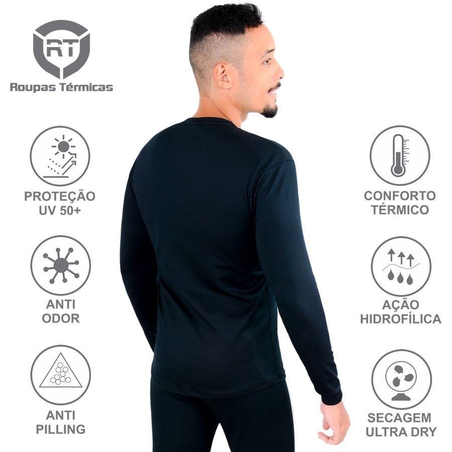 Camisa Térmica Segunda Pele RT Manga Longa Frio Intenso a9992df623655