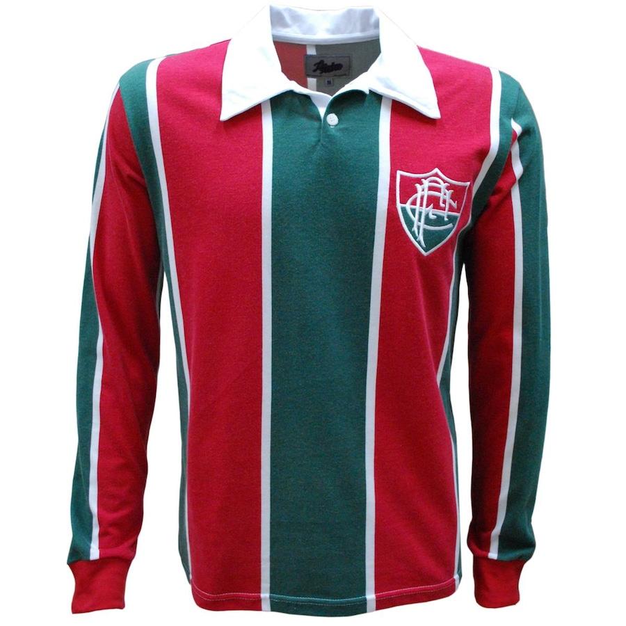 Camiseta do Fluminense Manga Longa Liga Retrô 1913 - Masculina 266a7cc4d483d
