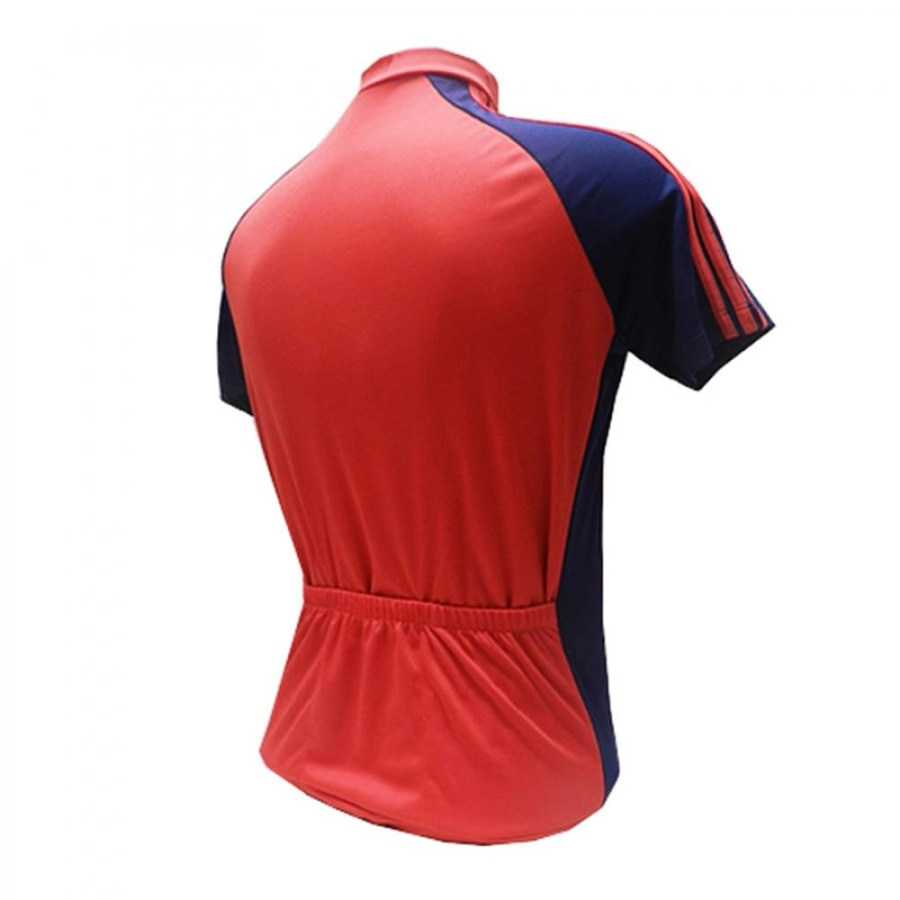 Camiseta de Ciclismo D A Collection com Friso Zíper Curto - Unissex 1028650bd5d