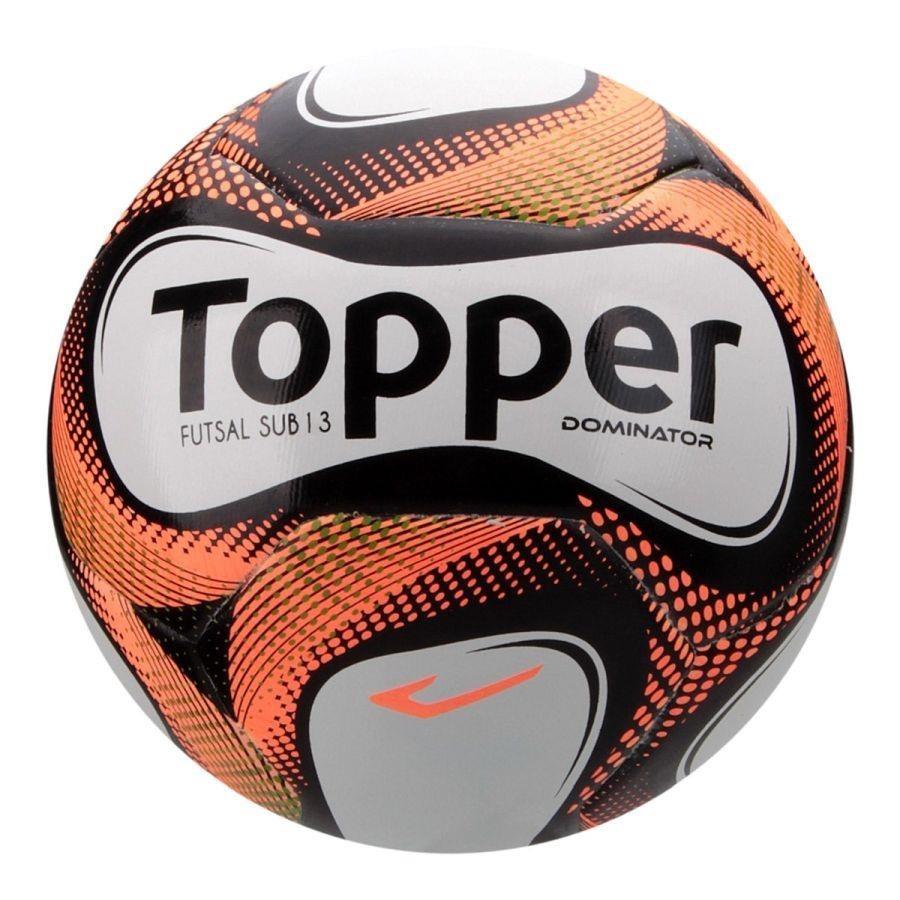 Bola de Futsal Topper Dominator Sub 13 sem Costura - Infantil 97bbcc305dcb4
