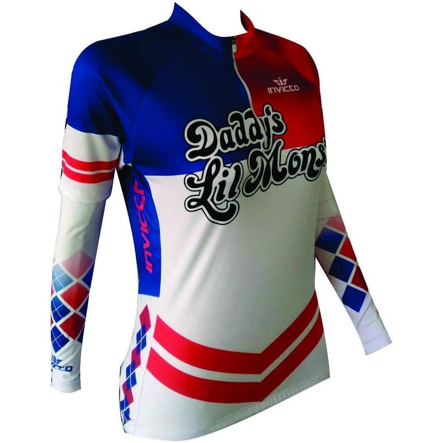 Camiseta Invicto Sport Arlequina para Ciclismo - Feminina + Manguito aaad96dca049a