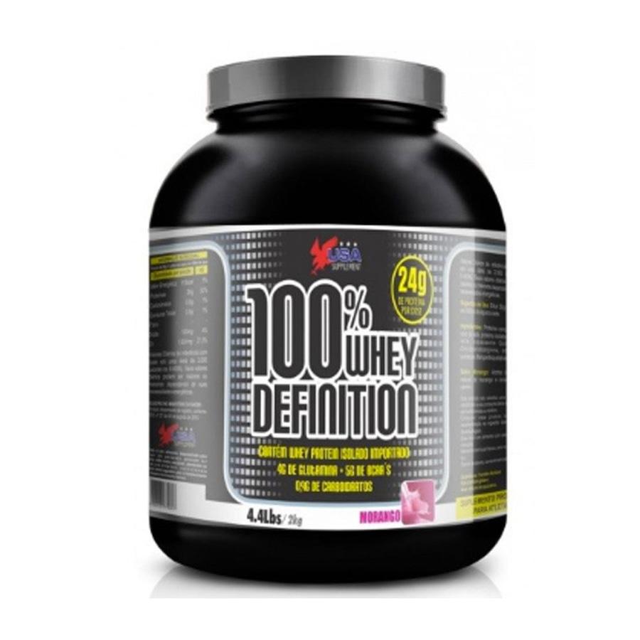 whey protein usa supplement definition 100% - morango - 2kg
