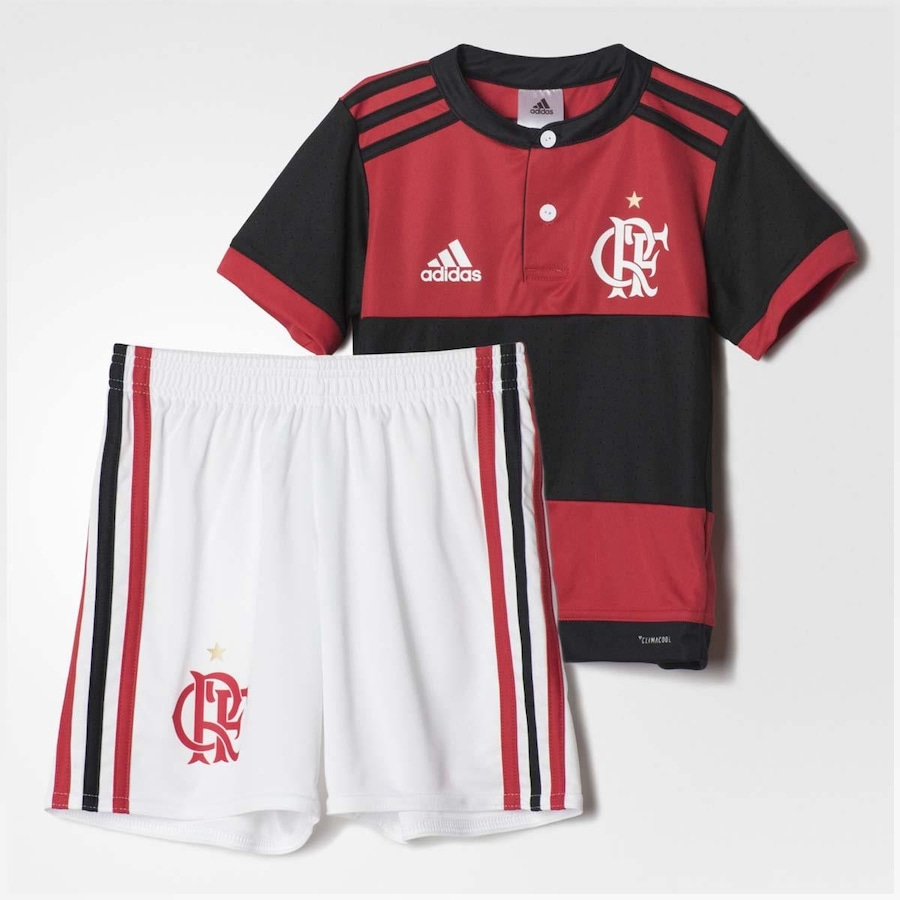 22409da831 Mini Kit Flamengo adidas Oficial 1 - 2017 - Infantil