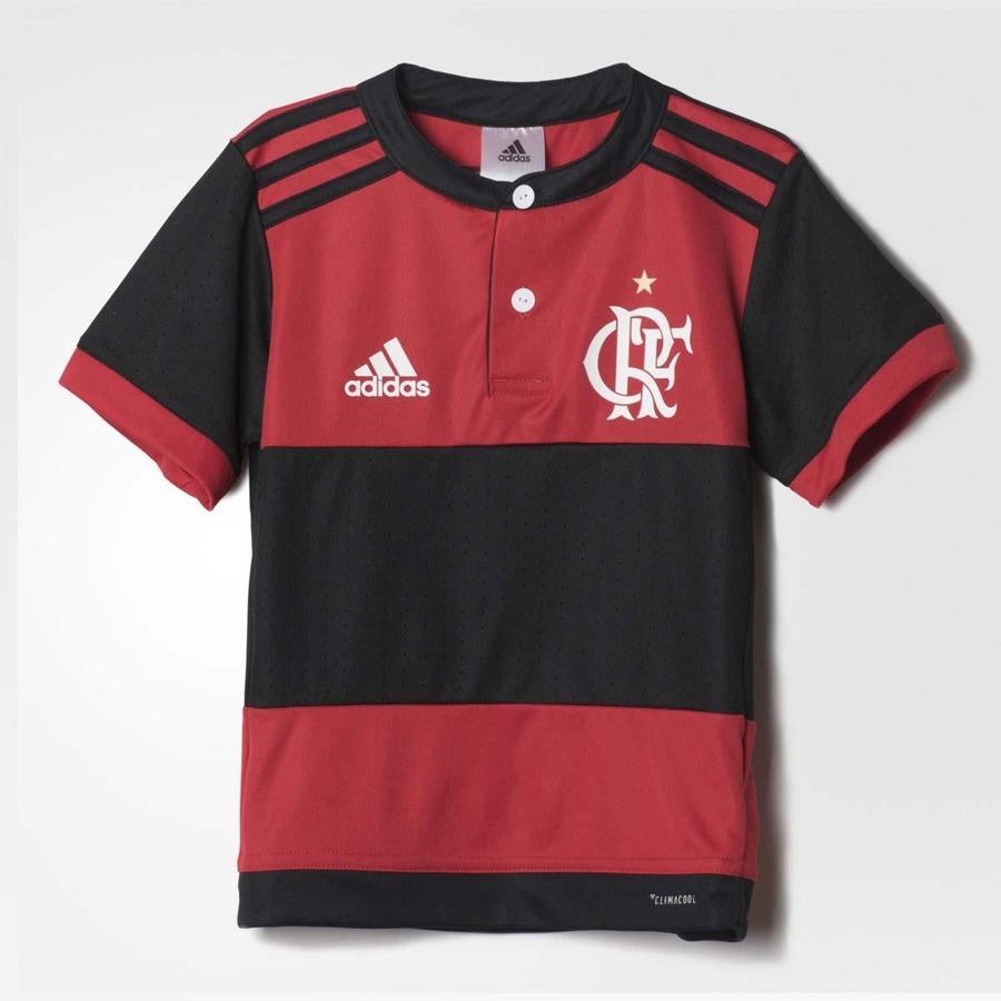 bf6af99986 Mini Kit Flamengo adidas Oficial 1 - 2017 - Infantil