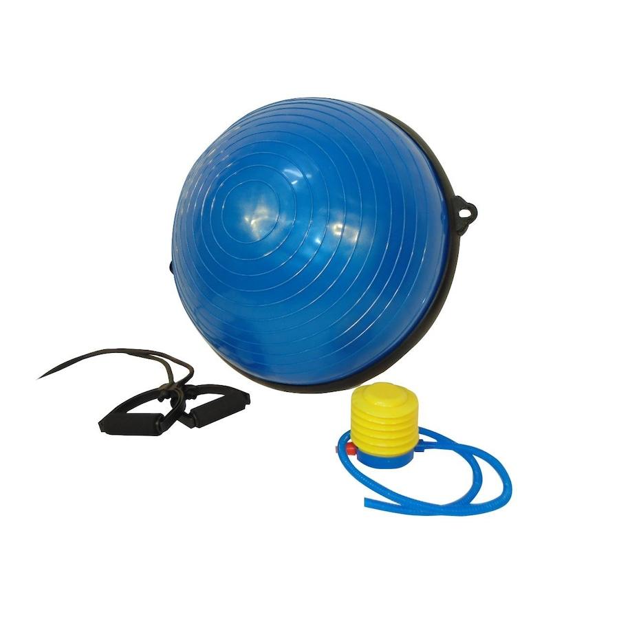 52d43f102346f Meia Bola Bosu WCT Bosu Ball Fitness para Pilates e Yoga + Corda Puxador -  4030